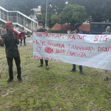 Aktivis Mahasiswa Nasionalis Peduli Keadilan Desak KPK Tuntaskan Kasus Pengadaan Citra Satelit Resolusi Tinggi