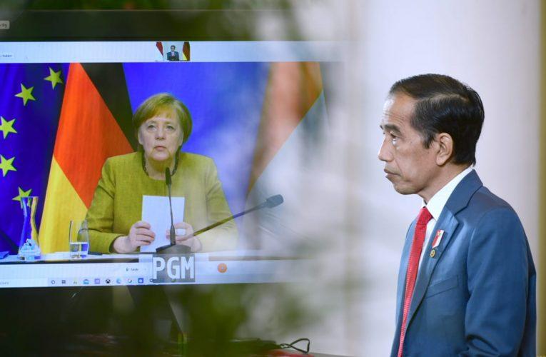 Presiden Jokowi dan Kanselir Angela Merkel Lakukan Pertemuan Bilateral secara Virtual