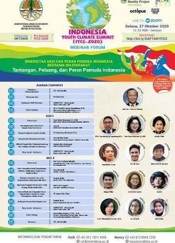 Dirjen KLHK Gelar Webinar Dengan Tema Sinergitas Aksi Dan Peran Pemuda Indonesia Bersama Masyarakat