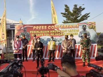 Panglima TNI Dan Kapolri Bersama Ketua DPR RI Serta Beberapa Menteri Tinjau Lokasi Penyekatan Mudik 2021
