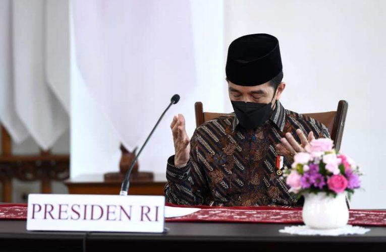 Pimpin Acara Doa Dari Rumah, Presiden: Usaha Lahiriah Harus Dibarengi Usaha Batiniah