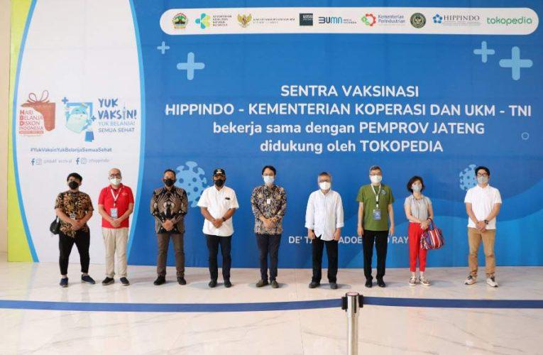 Perluas Akses Untuk Masyarakat, HIPPINDO Buka Sentra Vaksinasi Di Solo