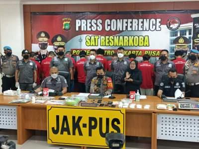 Satresnarkoba Polres Jakarta Pusat Ungkap Peredaran 1 Kg Narkoba Jenis Sabu